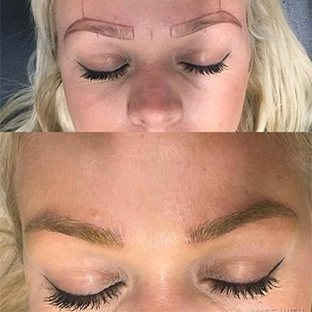 The Microblading Process - Artistry in progress - DFW Microblading of Murrieta and Temecula